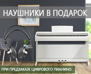 Наушники в подарок при предварительном заказе на цифровое пианино!